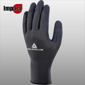 VE630 GANT TRICOT POLYESTER - PAUME ENDUITE LATEX