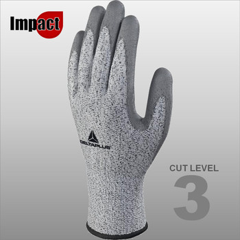 VECUT34G3 KNITTED ECONOCUT GLOVES - PU COATED PALM - GAUGE 13