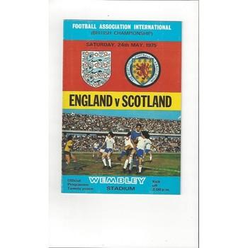 England v Scotland 1975