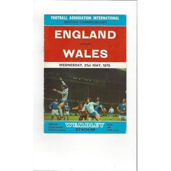 England v Wales 1975