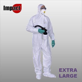 DT115 NON-WOVEN HOODED OVERALL EXTRA LARGE - SINGLE-USE
