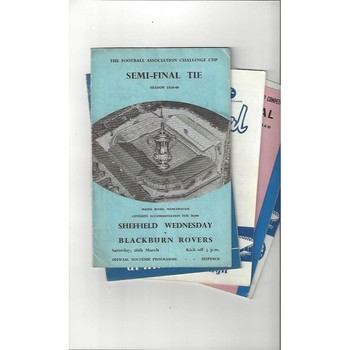 4 FA Cup Semi Final Football Programmes 1960 to 1966 All Single Items