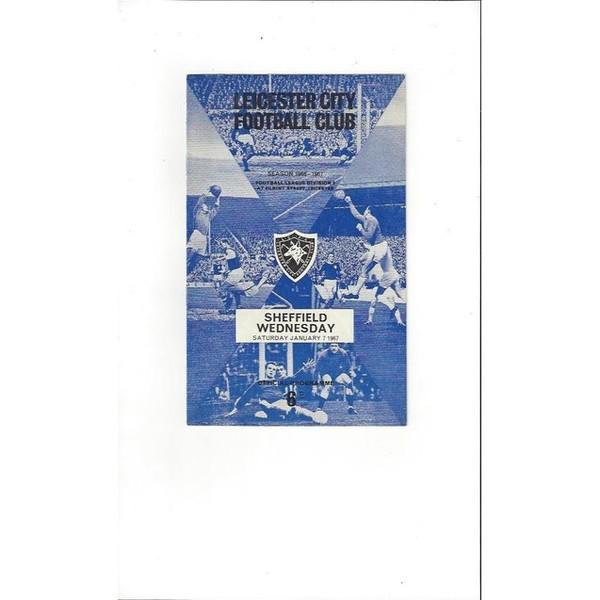 1966/67 Leicester City v Sheffield Wednesday Football Programme