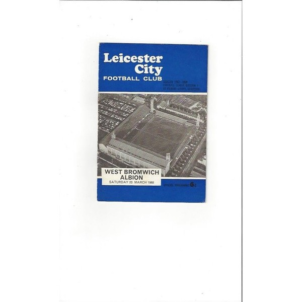 1967/68 Leicester City v West Bromwich Albion Football Programme