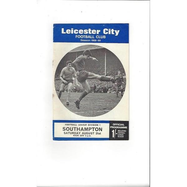 1968/69 Leicester City v Southampton Football Programme