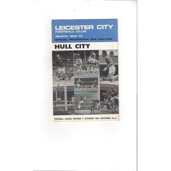 1969/70 Leicester City v Hull City Football Programme + Insert