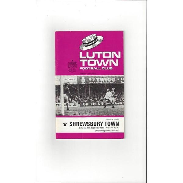 Luton Town v Shrewsbury Town 1969/70 + League Review