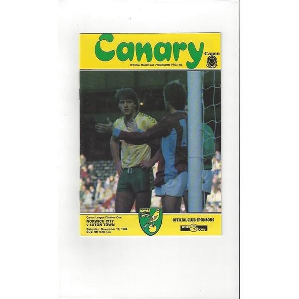 Norwich City Home Football Programmes