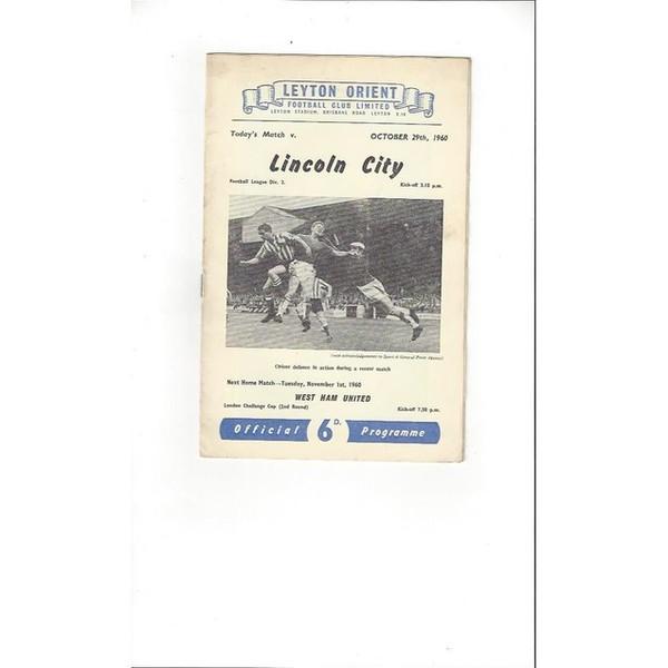 1960/61 Leyton Orient v Luton Town Football Programme