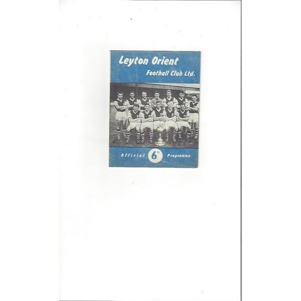 1961/62 Leyton Orient v Burnley FA Cup Football Programme