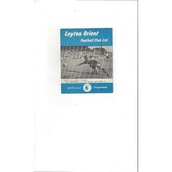 1961/62 Leyton Orient v Huddersfield Town Football Programme
