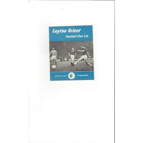 1961/62 Leyton Orient v Rotherham United Football Programme