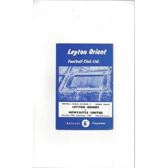 Leyton Orient v Newcastle United 1963/64