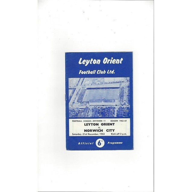 Leyton Orient v Norwich City 1963/64