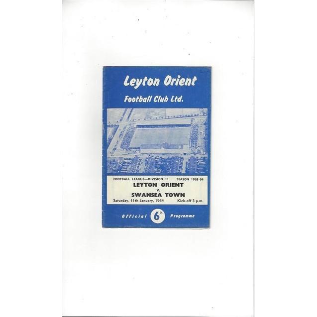 1963/64 Leyton Orient v Swansea Football Programme