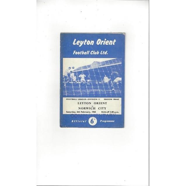 Leyton Orient v Norwich City 1964/65
