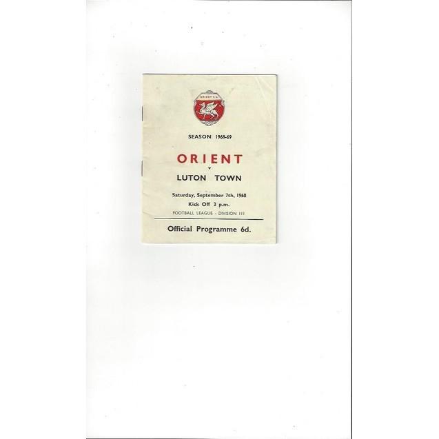 Leyton Orient v Luton Town 1968/69