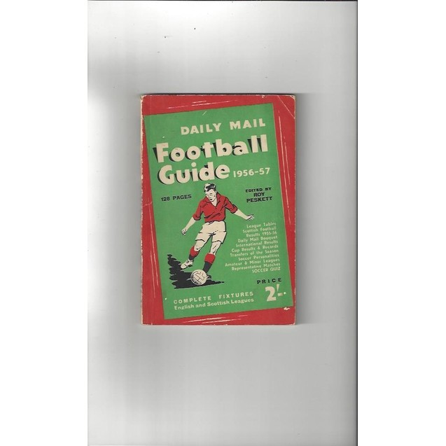 Daily Mail Football Guide paperback Football Book 1956/57