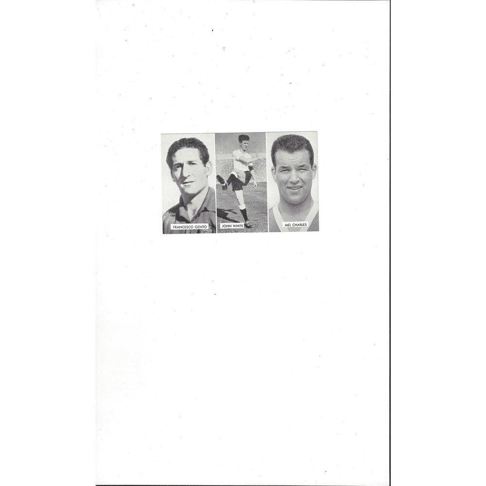 Gento, White & Charles Cup Tie Stars of all Nations Football Card