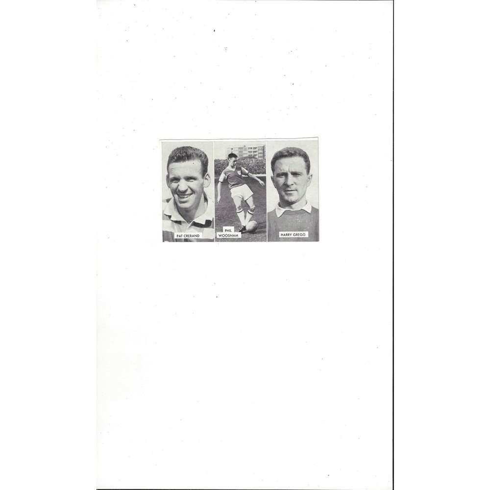 Cerand, Woosnam & Gregg Cup Tie Stars of all Nations Football Card