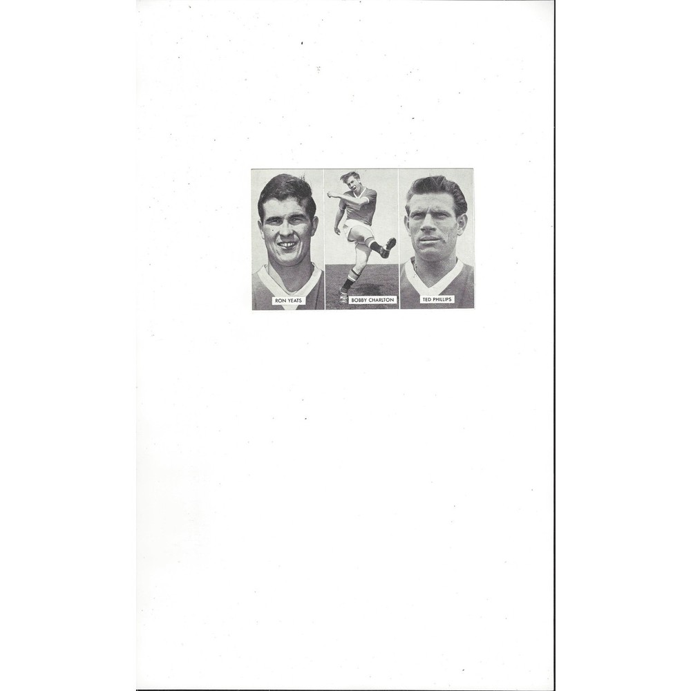 Yeats, Charlton & Phillips Cup Tie Stars of all Nations Football Card