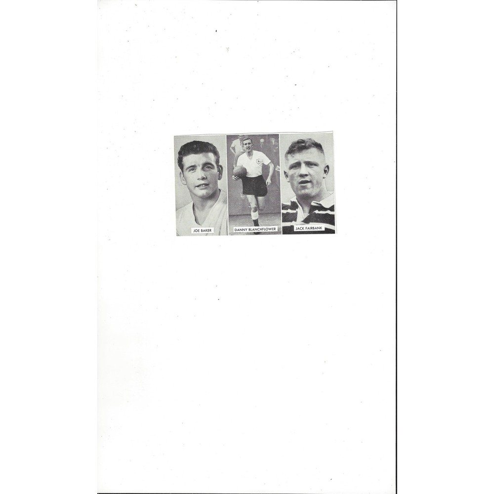 Baker, Blanchflower & Fairbank Cup Tie Stars of all Nations Football Card