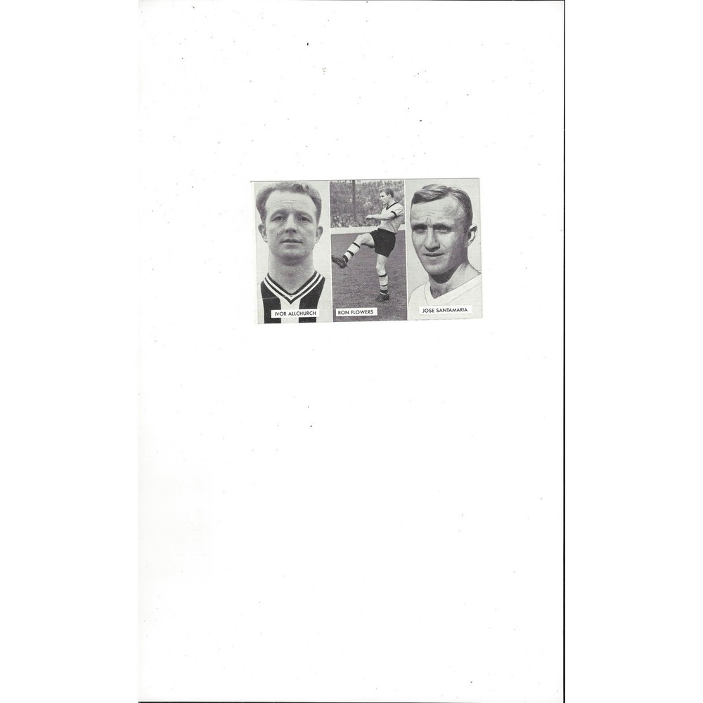 Allchurch, Flowers & Santamaria Cup Tie Stars of all Nations Football Card