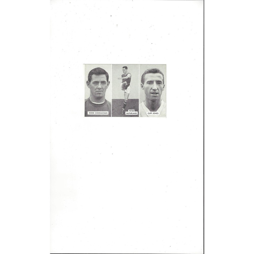 Connachan, Mcparland & Jones Cup Tie Stars of all Nations Football Card