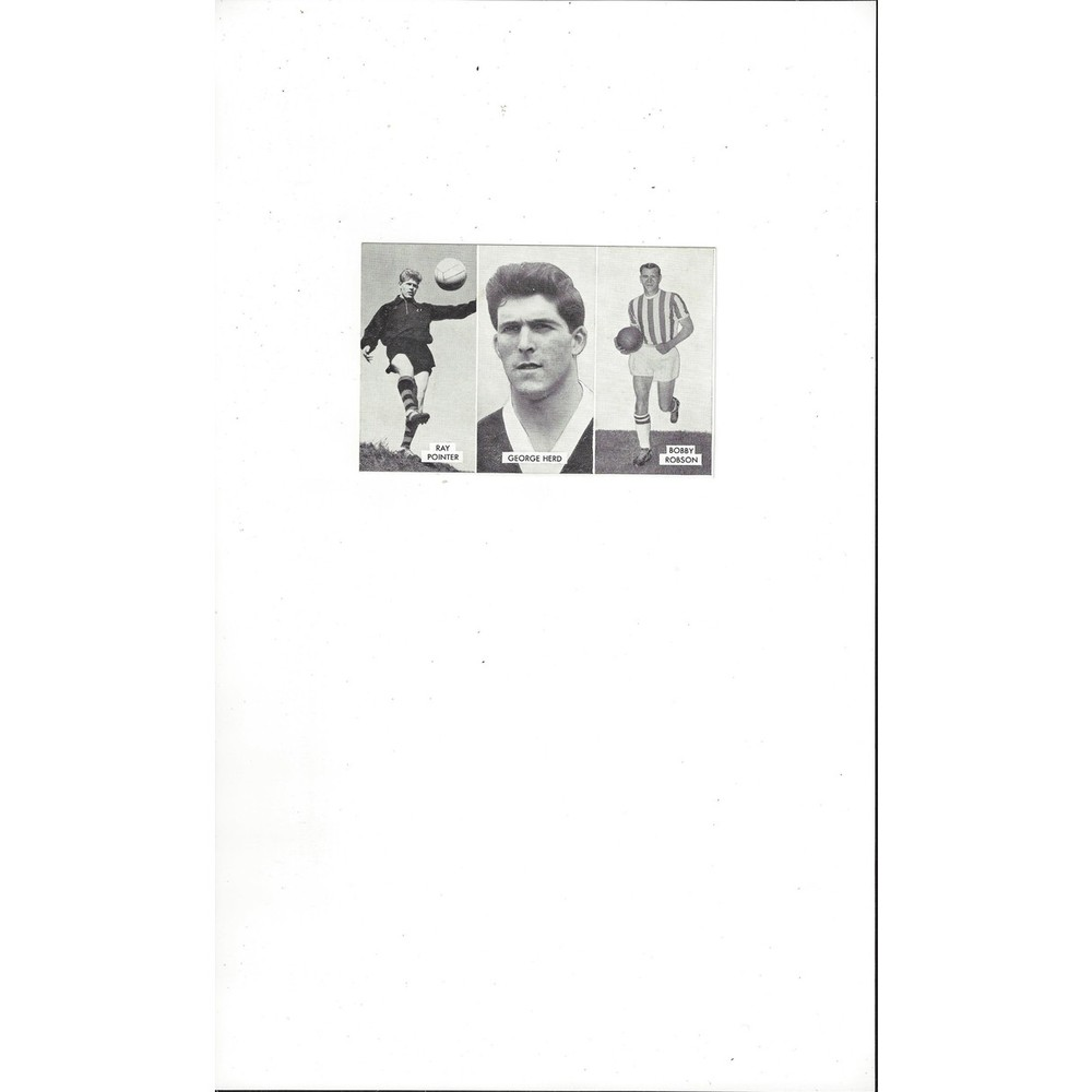 Pointer, Herd & Robson Cup Tie Stars of all Nations Football Card
