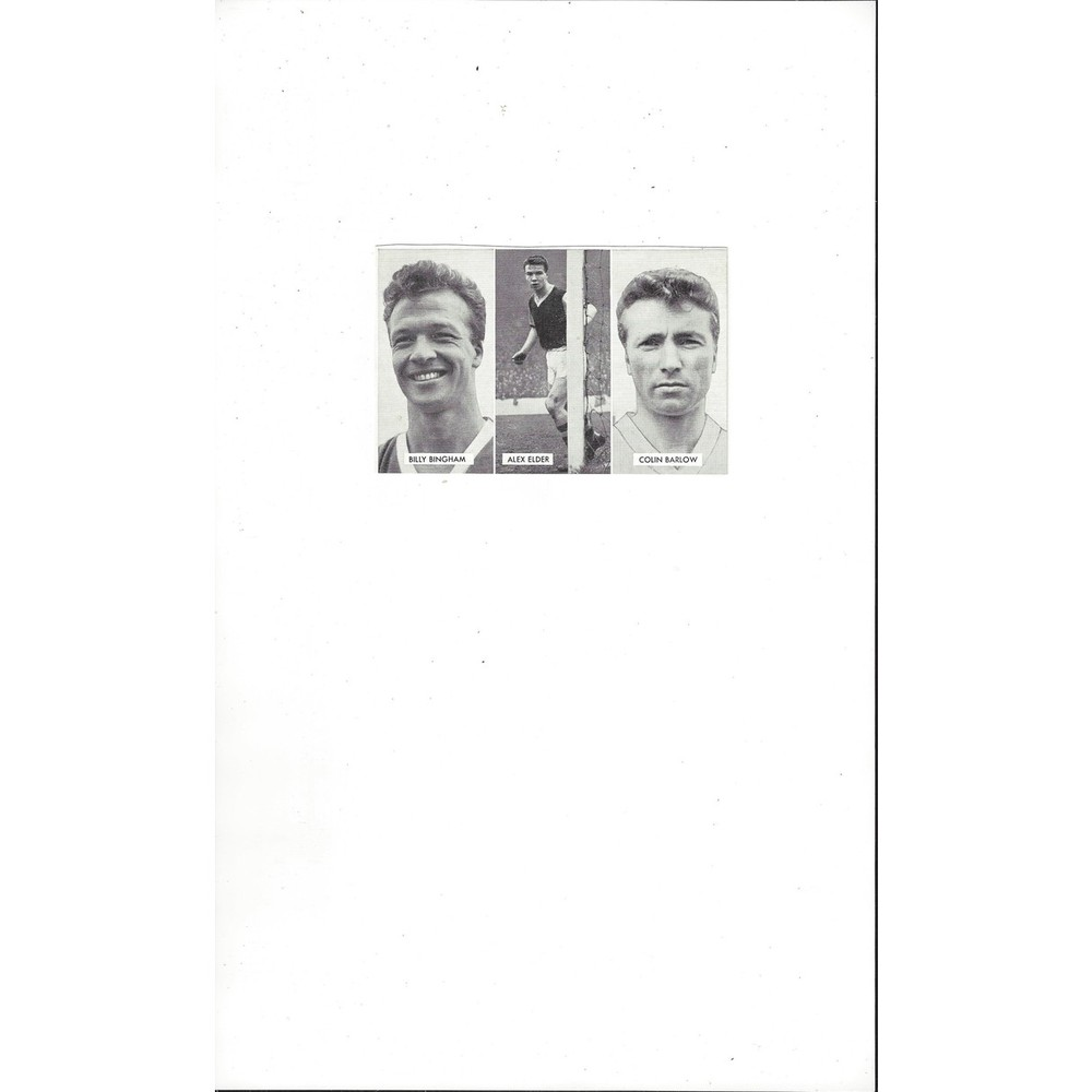Bingham, Elder & Barlow Cup Tie Stars of all Nations Football Card