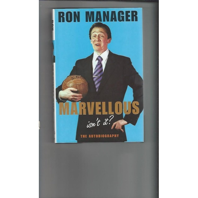 Ron Manager marvellous 2002 Hardback Edition Football Book