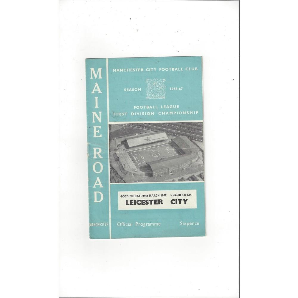 1966/67 Manchester City v Leicester City Football Programme
