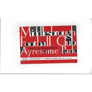1963/64 Middlesbrough v Charlton Athletic Football Programme