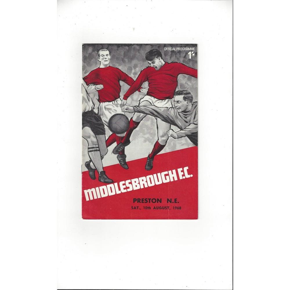 1968/69 Middlesbrough v Preston Football Programme