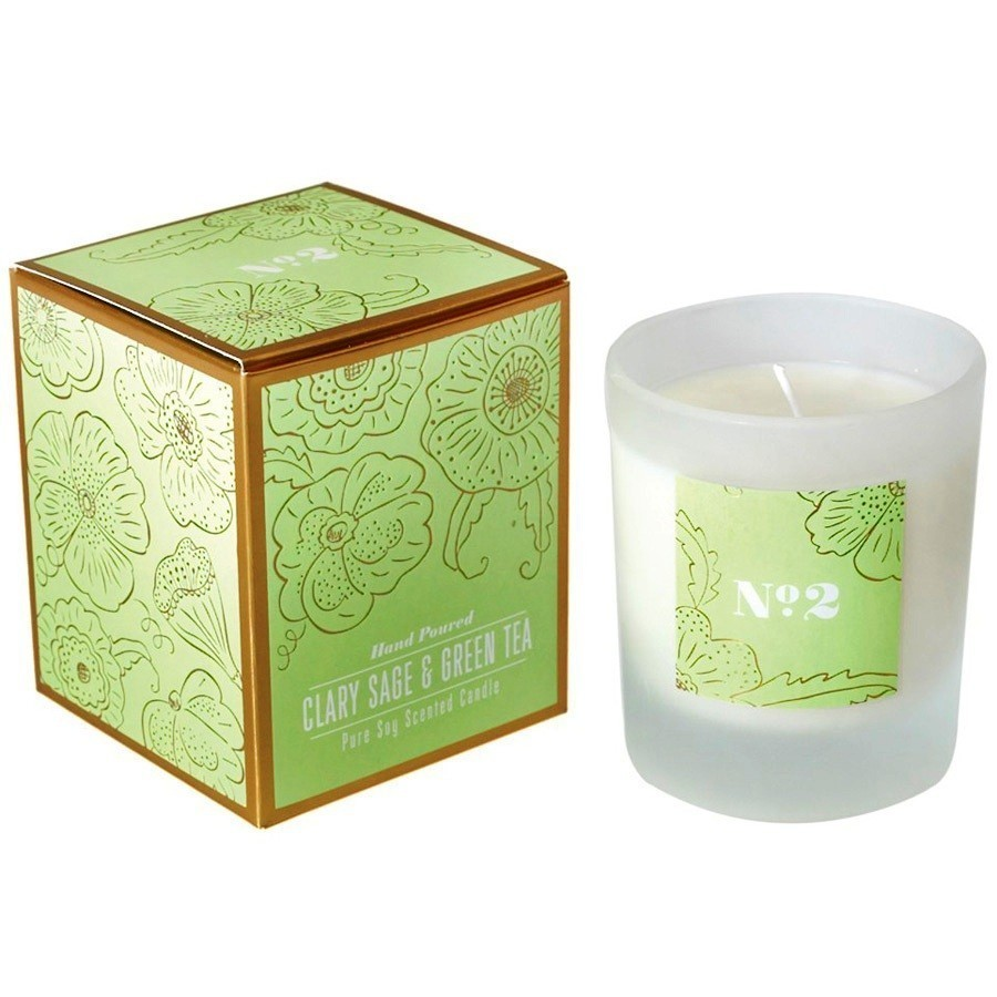 Clary Sage & Green Tea Soy Candle
