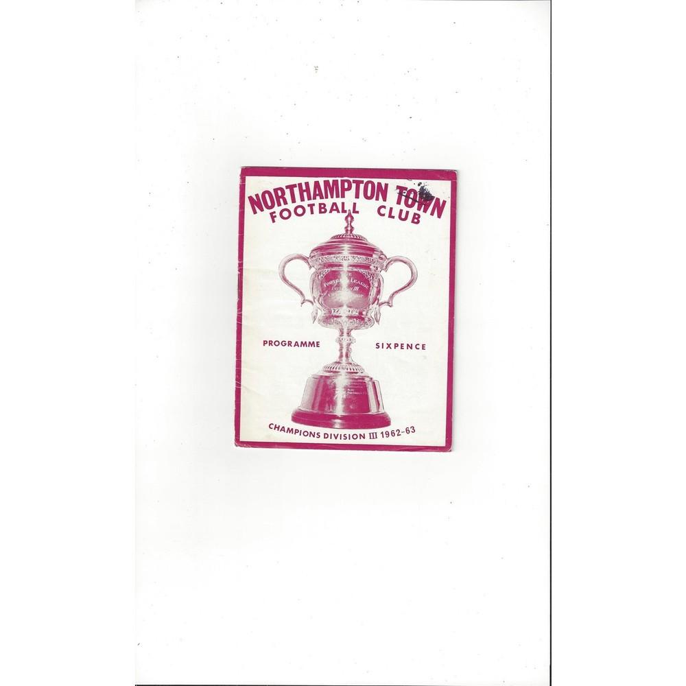 1963/64 Northampton Town v Leyton Orient Football Programme
