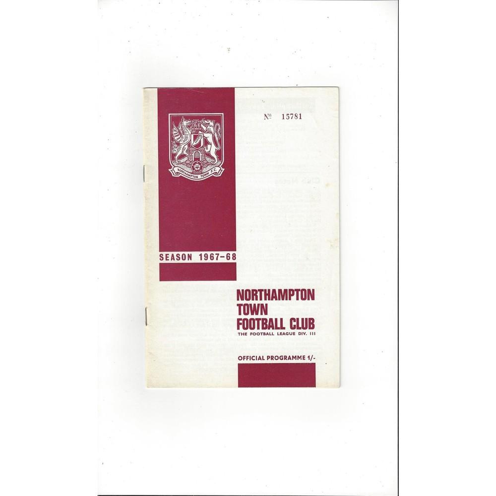 1967/68 Northampton Town v Torquay United Football Programme