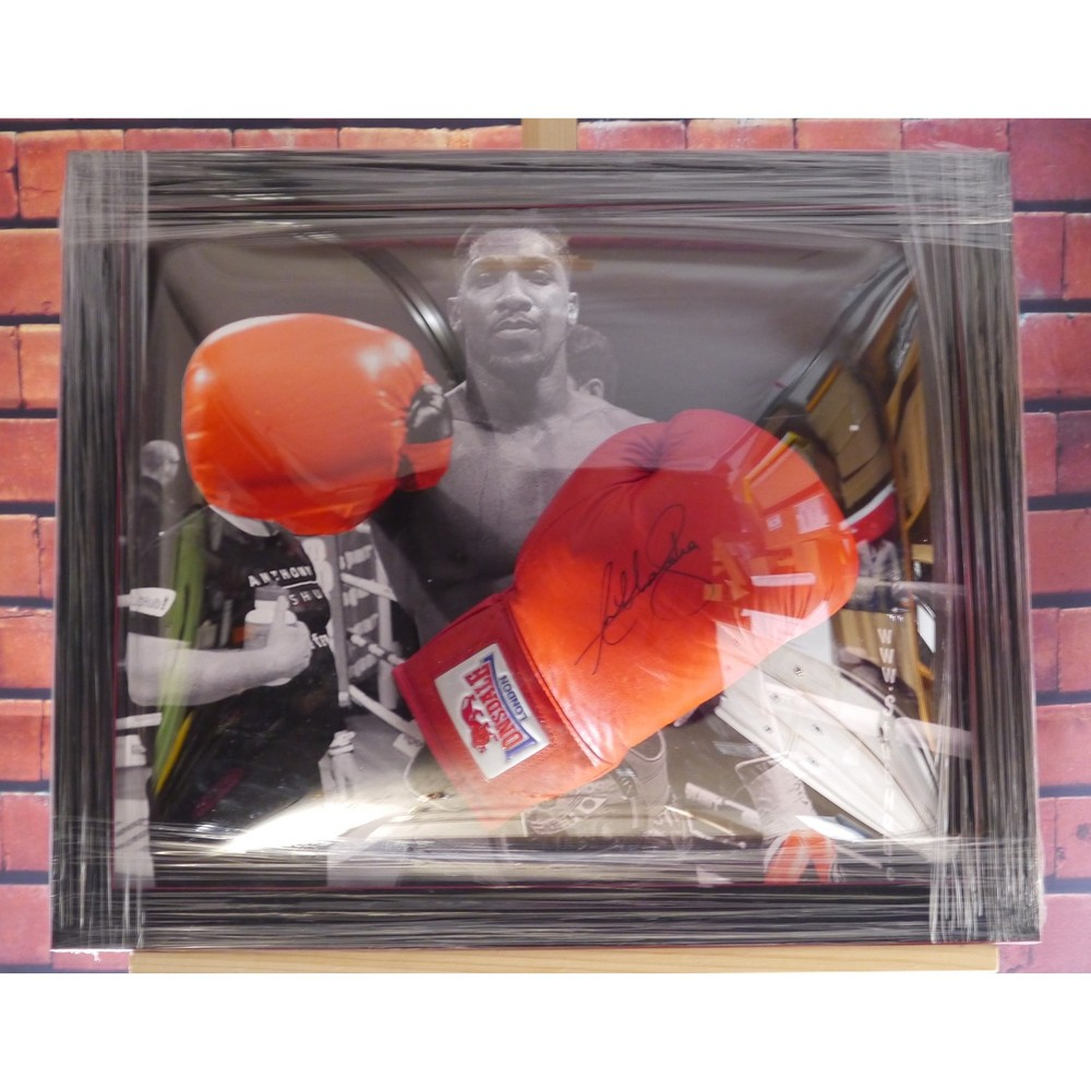 Anthony Joshua Hand Signed Glove - Dome Frame