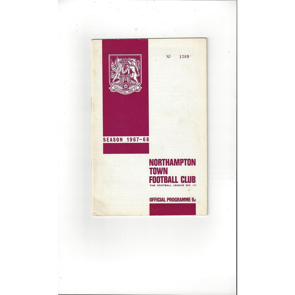 1967/68 Northampton Town v Grimsby Town Football Programme+ League Review