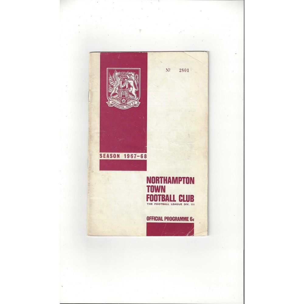 1967/68 Northampton Town v Reading Football Programme + League Review