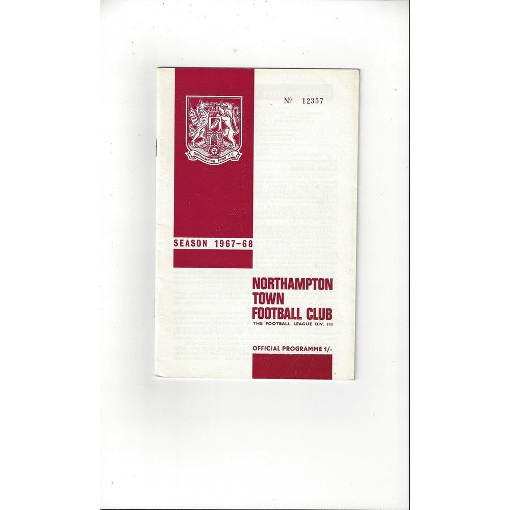 1967/68 Northampton Town v Southport Football Programme + League Review