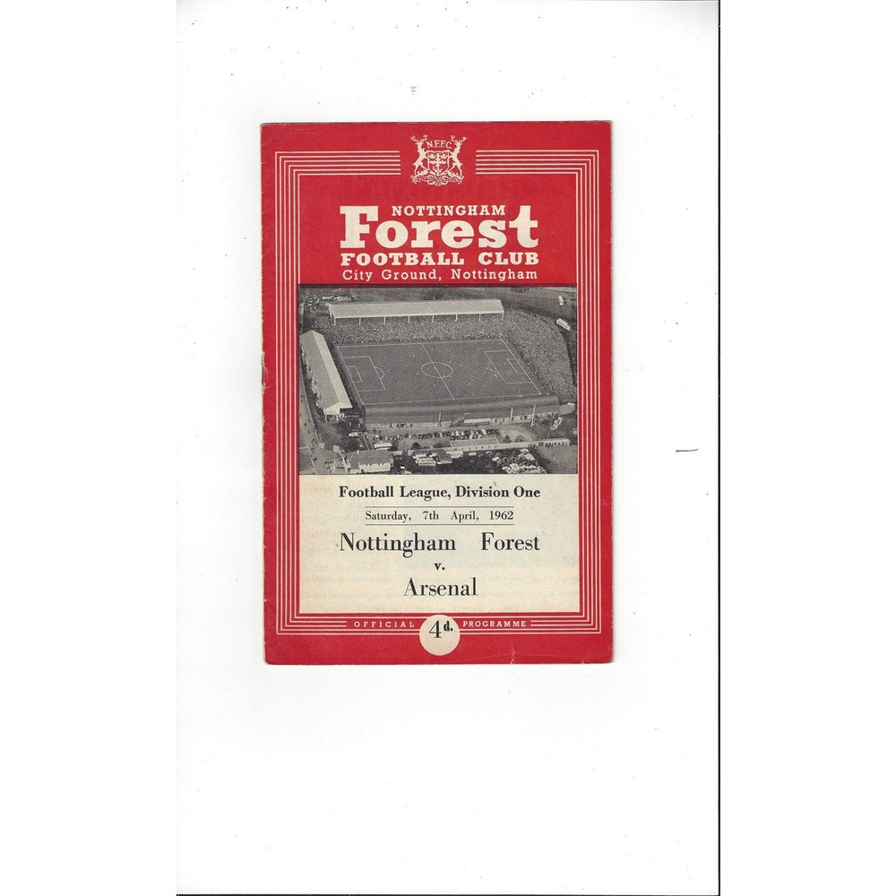 1961/62 Nottingham Forest v Arsenal Football Programme
