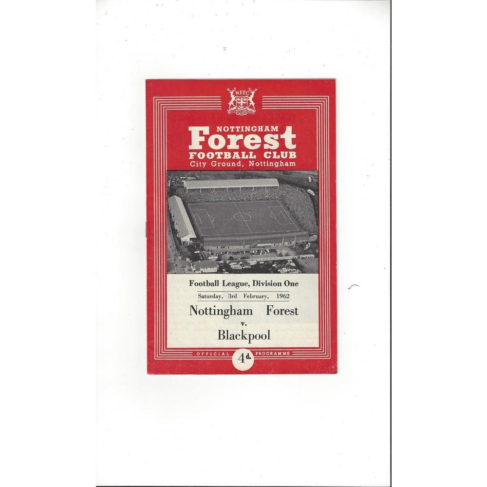 Nottingham Forest Football Programmes