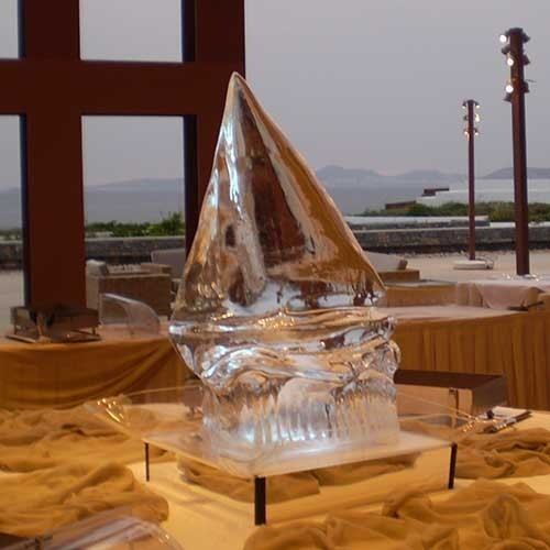 The Yacht Ice Sculpture