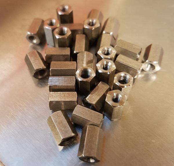 M4 to M3 reducing hexagon coupler nut