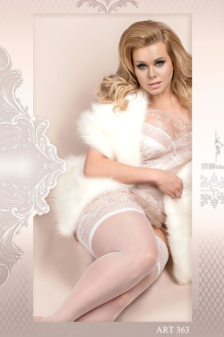 Ballerina 363 Hold Ups Bianco, Bridal, (White), Plus Size