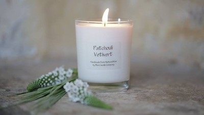 Patchouli Vetiver Scented Candle