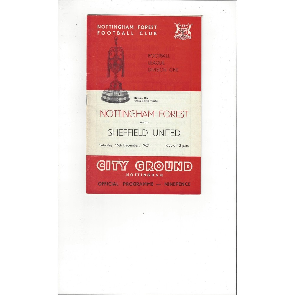 Nottingham Forest v Sheffield United 1967/68