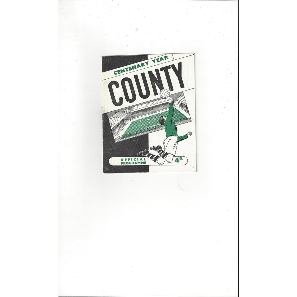 1961/62 Notts County v Lincoln City Football Programme