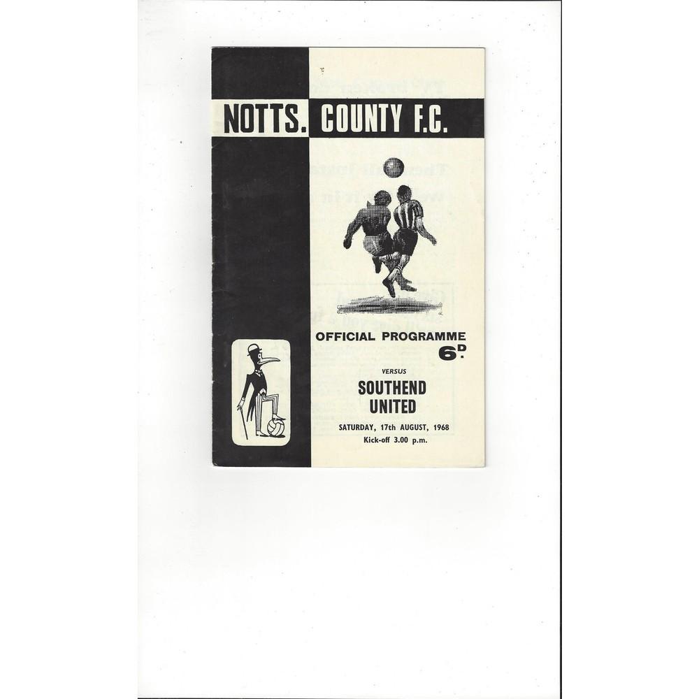 Notts County v Southend United 1968/69
